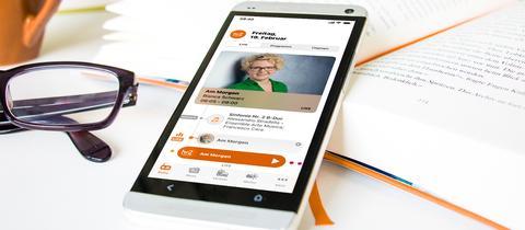 Neue hr2 App auf Smartphone