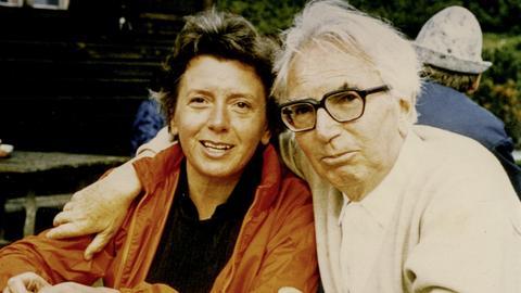 Viktor und Eleonore Frankl auf der Rax. Niederösterreich. Um 1975.