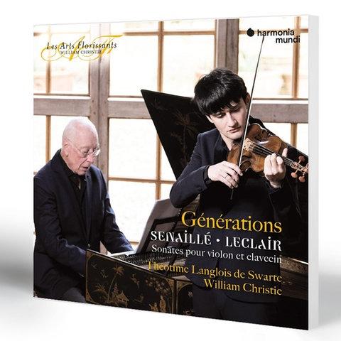 Senaillé & Leclair: Sonates pour violon et clavecin | Théotime Langlois de Swarte (Violine), William Christie (Cembalo)