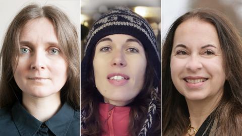Marion Poschmann, Andrea Grill und Isabella Straub