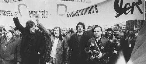 Protestierende Studenten 1968