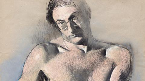 Johannes Grützke: Selbstbildnis, 1979