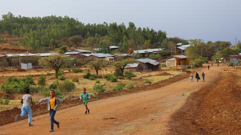 Das Dorf Awra Amba in Äthiopien