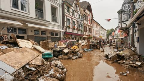 Ahrweiler nach der Hochwasser-Katastrophe im Juli 2021