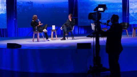 ARD-Buchmessennacht 2020 / Richard David Precht (links) und Alf Mentzer