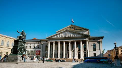 Das Bayerische Nationaltheater in München, in dem jährlich die Münchner Opernfestspiele stattfinden.