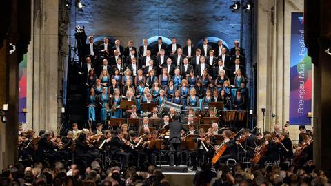 Impressionen vom hr-Sinfonieorchester beim Rheingau Musik Festival 2019.