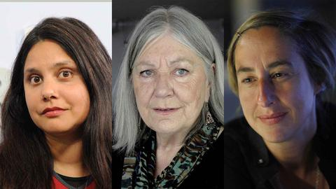 (v.l.) Helga Schubert, Mithu Sanyal, Judith Hermann