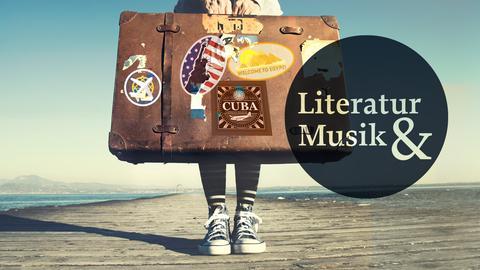 Aufbruch Reisen im Kopf Frau mit Koffer
