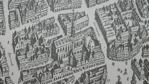 Barfüßerkirche in Frankfurt, 1628