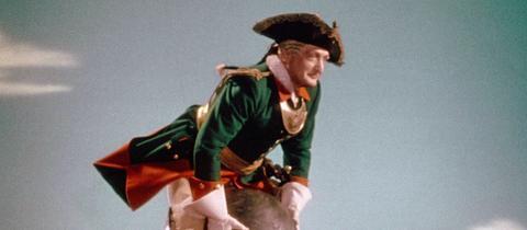 """Hans Albers als """"Baron Münchhausen"""" in dem Ufa-Film von 1943"""