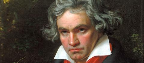 "Ludwig van Beethoven beim Komponieren der Messe ""Missa solemnis"""