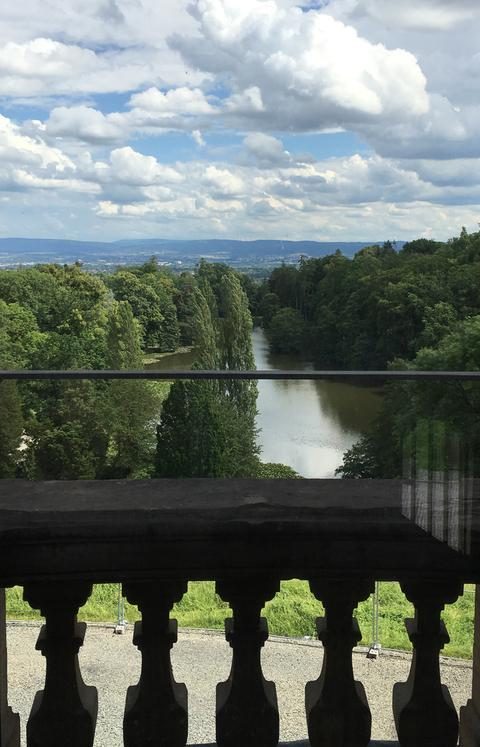 Bergpark Wilhelmshöhe Kassel Blick aus dem Schloss