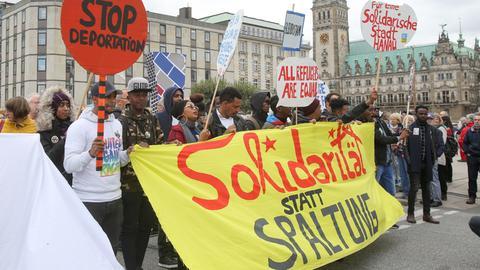 Solidarität Demonstration Flüchtlinge