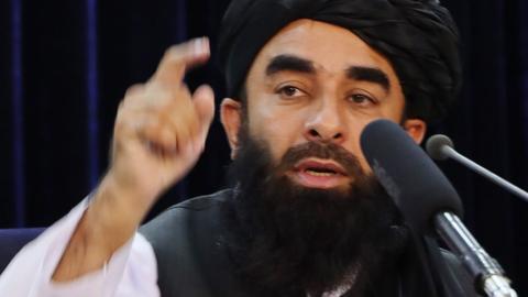Sprecher der Taliban Zabihullah Mujahid