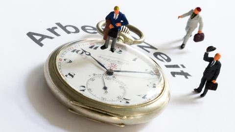 Illustration zum Thema Arbeitszeit,