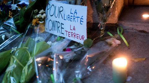 Conflans-Sainte-Honorine. Frankreich: Gedenken an den ermordeten Lehrer