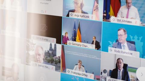 Coronavirus - Bund-Länder-Videokonferenz