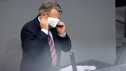 Georg Nüßlein in der 203. Sitzung des Deutschen Bundestages im Reichstagsgebäude. Berlin, 13.01.2021