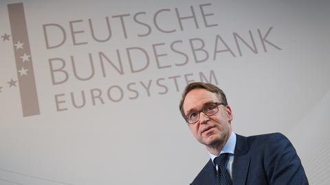 Jens Weidmann, Präsident der Deutschen Bundesbank, kommt zur Bilanz-Pressekonferenz.