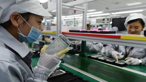 Handyproduktion in Wuhan