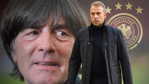 Fotomontage: Hansi Flick wird neuer Bundestrainer / Archivfoto: Bundestrainer Joachim Jogi Loew