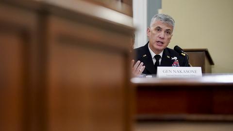 Der Direktor der NSA, General Paul Nakasone bei einer Konferenz in Washington