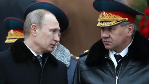 Putin und sein Verteidigungsminister Shoigu