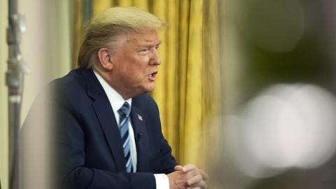 US Präsident Donald Trump im Oval Office im März 2020.