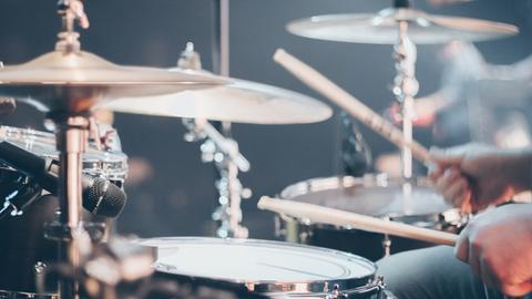Nahaufnahme Schlagzeug