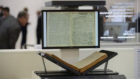 Deutsche Nationalbibliothek: Bücher werden gescannt