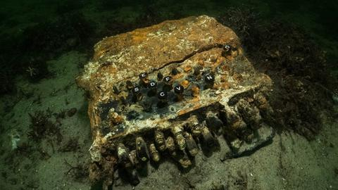 Die Enigma-Chiffriermaschine aus dem 2. Weltkrieg liegt auf dem Grund der Ostsee.