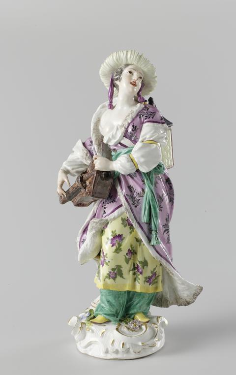 Hurdy-Gurdy-Girl in Meissener Porzellan
