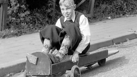 """Eine """"Seifenkiste"""" von 1950"""