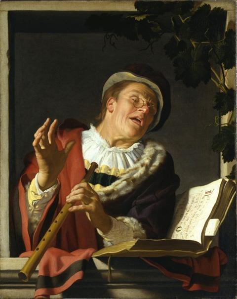 Gerard van Honthorst, Singender Zinkspieler, 1623