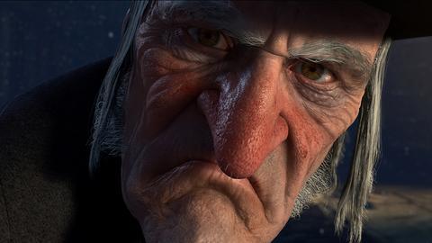 "Ebenezer Scrooge aus dem Film ""A Christmas Carol"""