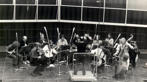 Das Ensemble Modern bei seinem Gründungskonzert in Köln 1980
