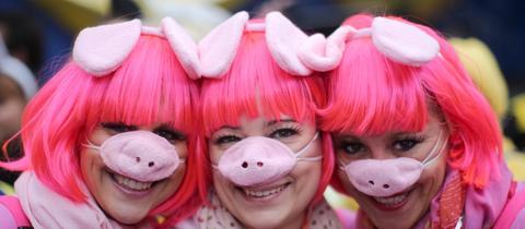 Fasching Verkleidung Schweinchen