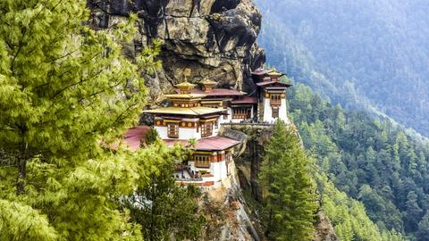 Das buddhistische Tigernestkloster in Bhutan