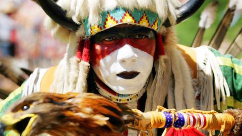 Der Cherokee-Indianer Moses Little Bear aus Oklahoma / USA.