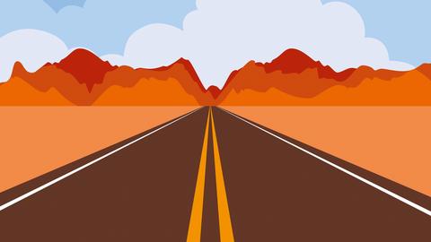 Stilisierte Landstraße durch die Wüste