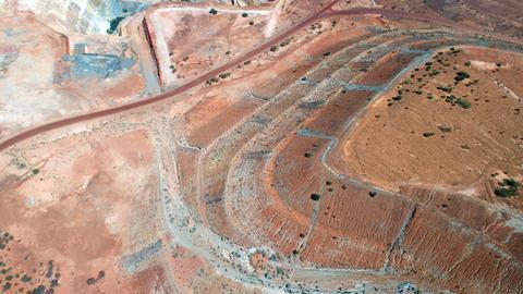 Goldrausch in Australien: Eastern Goldfields Luftaufnahme