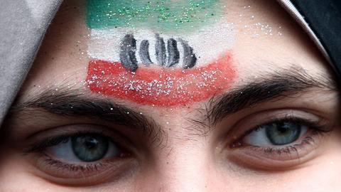 Frau Iran Iranerin Nationaflagge