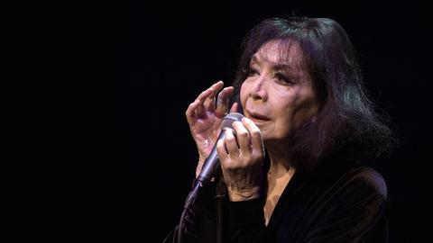 Juliette Gréco auf ihrem Abschiedskonzert