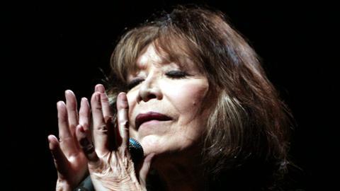 Die französische Chansonsängerin Juliette Gréco