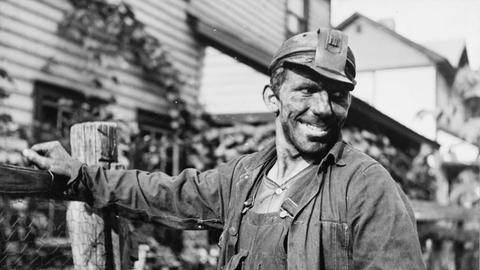 Kohle-Bergarbeiter in McDowell County, West Virginia, 1938