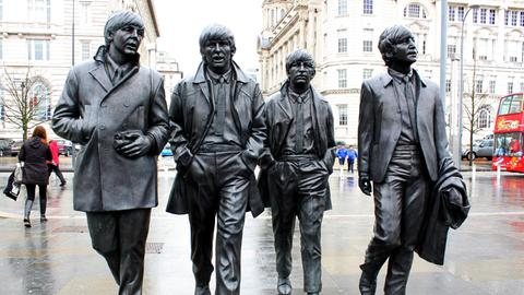 Beatles-Denkmal in Liverpool