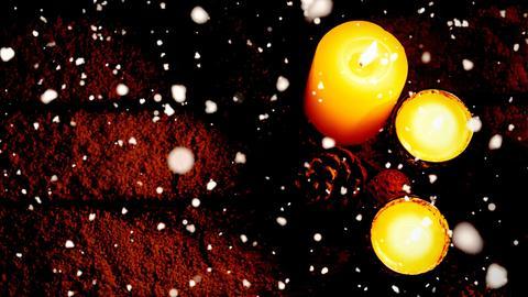 Nacht Schnee Kerzen