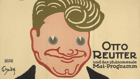 Werbung für das Programm von Otto Reutter, um 1912
