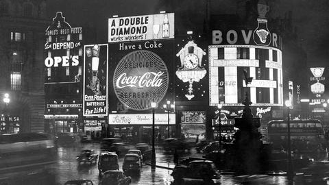 Picadilly Circus in London, 1958